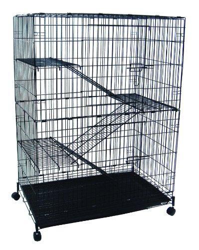 4 Levels Small Animal Chichilla Cat Ferret Cage In Black
