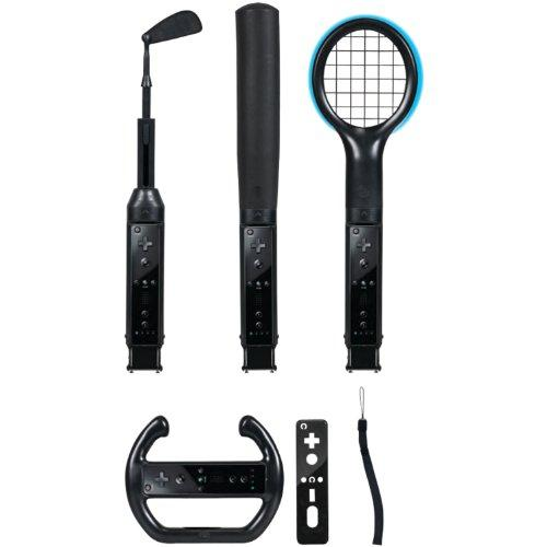 CTA WI-6KB Nintendo Wii(R) Grand Slam 6-in-1 Sports Pack (Black)