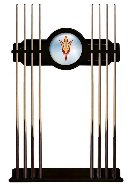 Arizona State Cue Rack in Black Finish with Pitchfork Logo