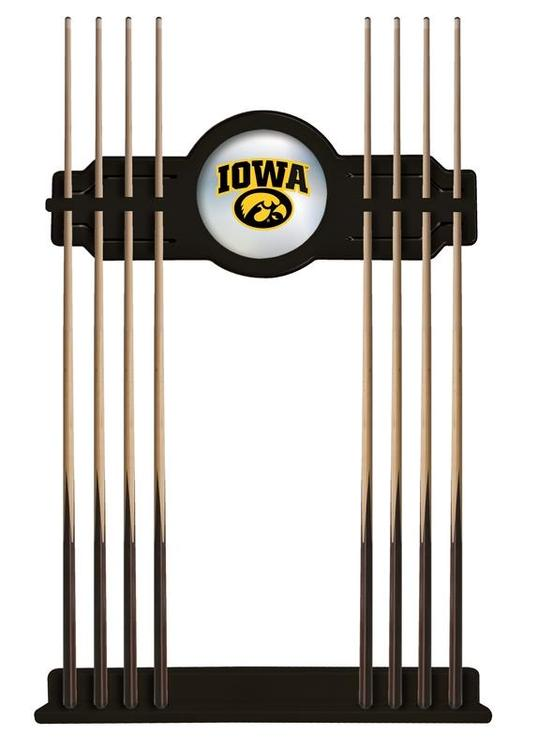 Iowa Cue Rack in Black Finish