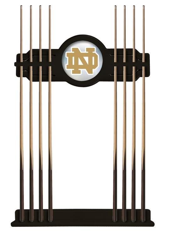 Notre Dame (ND) Cue Rack in Black Finish [Item # CueBKND-ND]