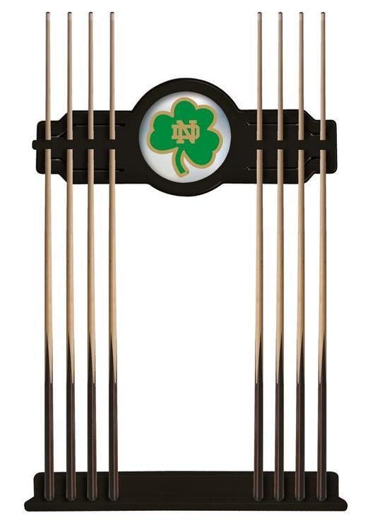 Notre Dame (Shamrock) Cue Rack in Black Finish