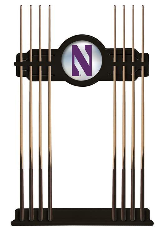 Northwestern Cue Rack in Black Finish
