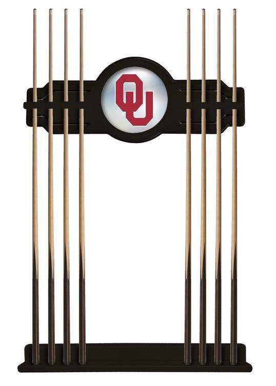 Oklahoma Cue Rack in Black Finish