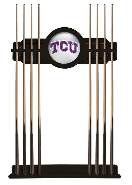 TCU Cue Rack in Black Finish