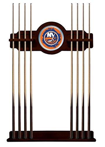 New York Islanders Cue Rack in English Tudor Finish