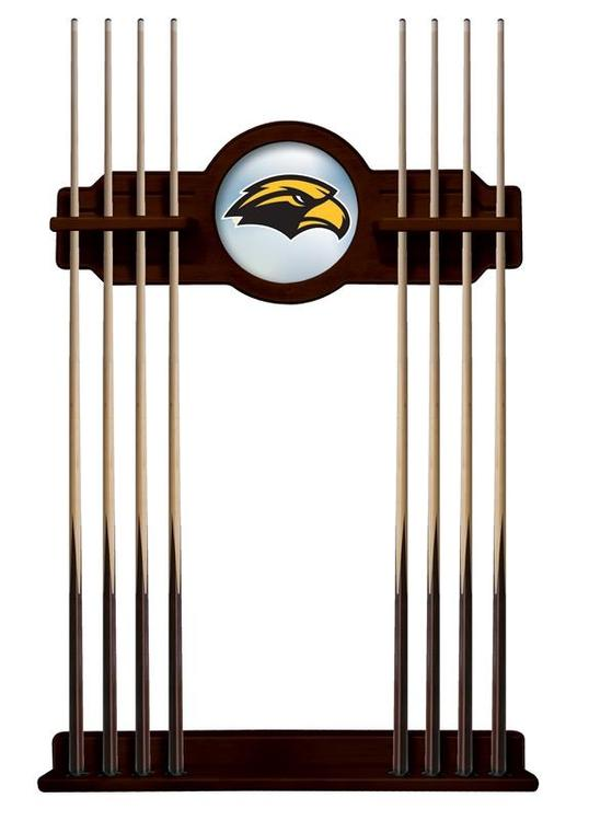 Southern Miss Cue Rack in English Tudor Finish