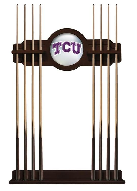 TCU Cue Rack in English Tudor Finish