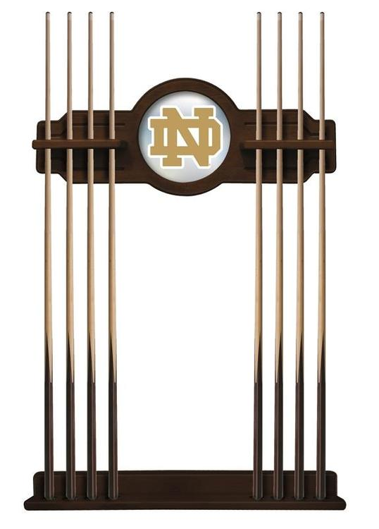 Notre Dame (ND) Cue Rack in Navajo Finish