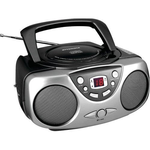 SYLVANIA SRCD243M BLACK Portable CD Boom Boxes with AM/FM Radio (Black)