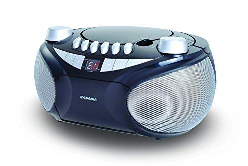 SYLVANIA SRCD286-SILVER Portable CD Radio Boom Box