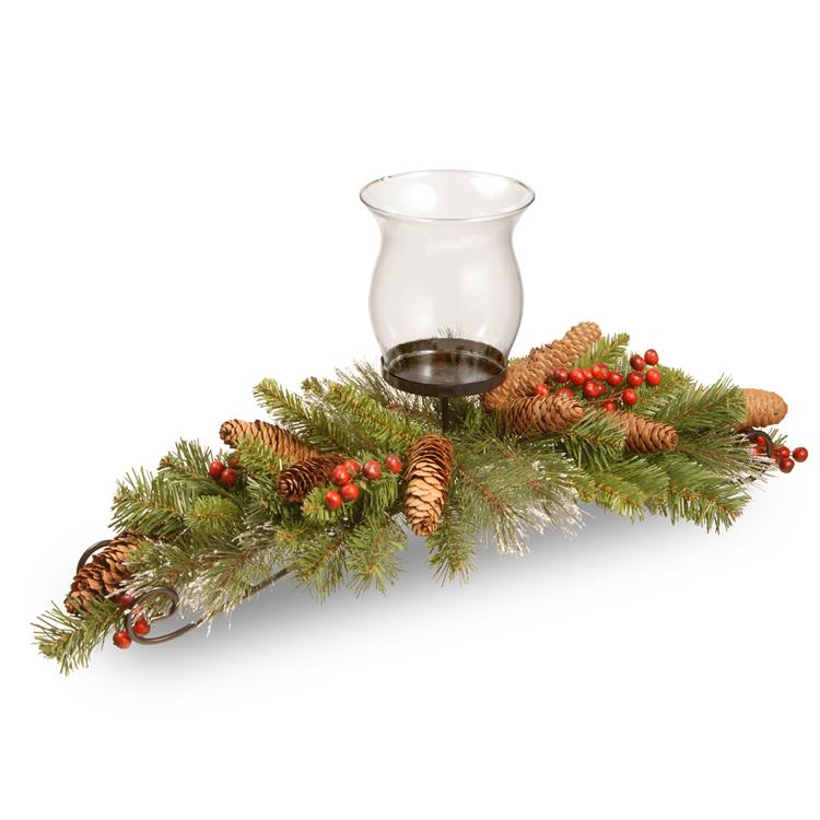 National Tree 30 inch  Crestwood Spruce Centerpiece and Candle Holder