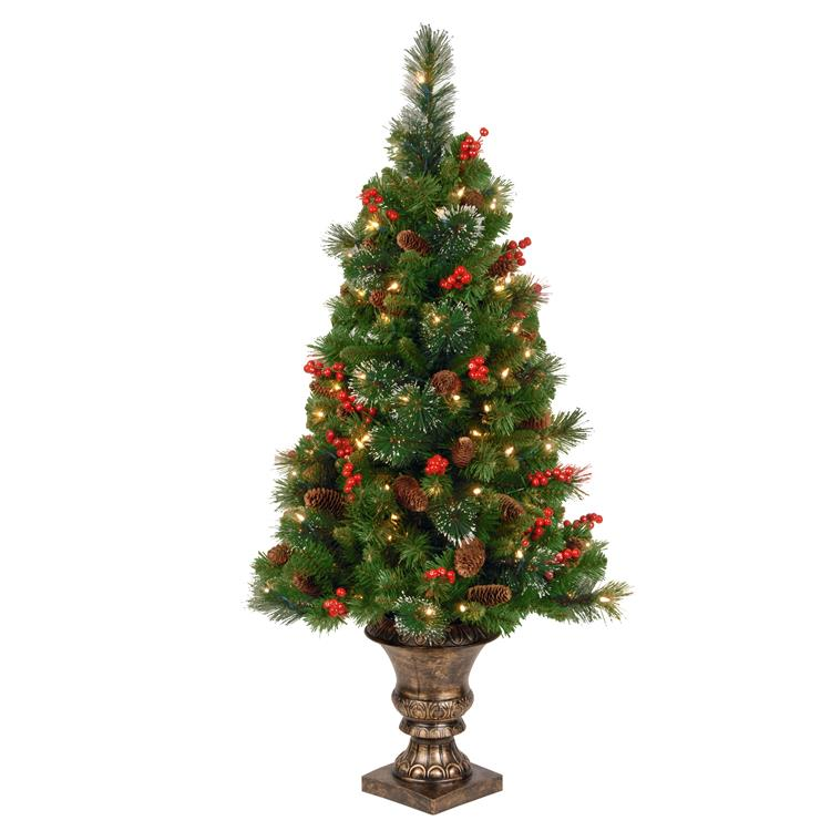 National Tree Crestwood Spruce Entrance Tree with Clear Lights