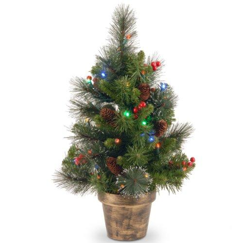 National Tree Crestwood Spruce Tree with Battery Operated Multicolor LED Lights