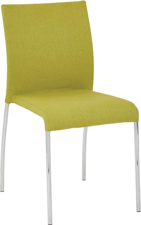 Conway Stacking Chair in Spring Green Fabric
