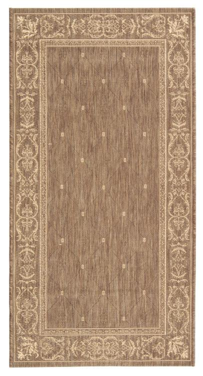 Courtyard Natural/Terra Medium Rectangle Rug