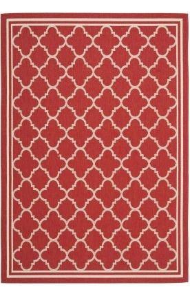 Transitional Rug - Courtyard 6000 Polypropylene -Red/Bone