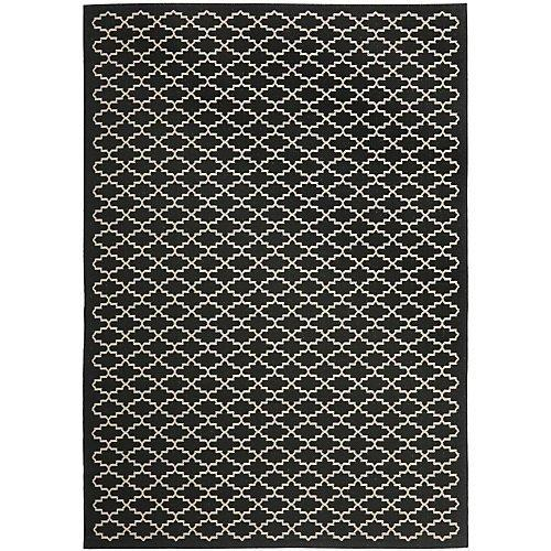 Transitional Rug - Courtyard 6000 Polypropylene -Black/Beige