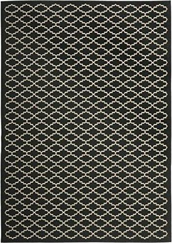 Transitional Rug - Courtyard 6000 Polypropylene -Black/Beige