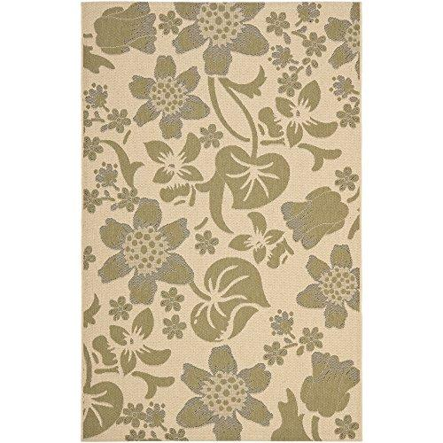 Transitional Rug - Courtyard 7000 Polypropylene -Cream/Green [Item # CY7014-14A5-6]