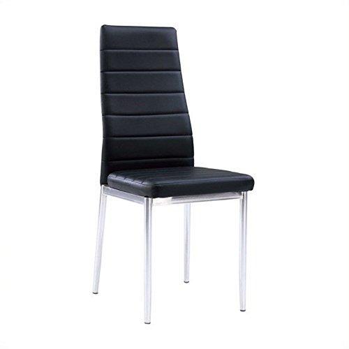 Global Furniture Dining Chair Black Pu W/Chrome Legs