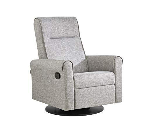Dutailier Nolita Upholstered Glider-Recline, Swivel with Built-in Footrest