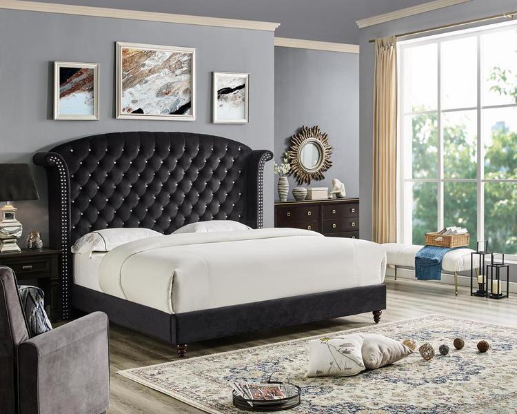 LILOLA Lexington Velvet Bed [Item # D3030Q]