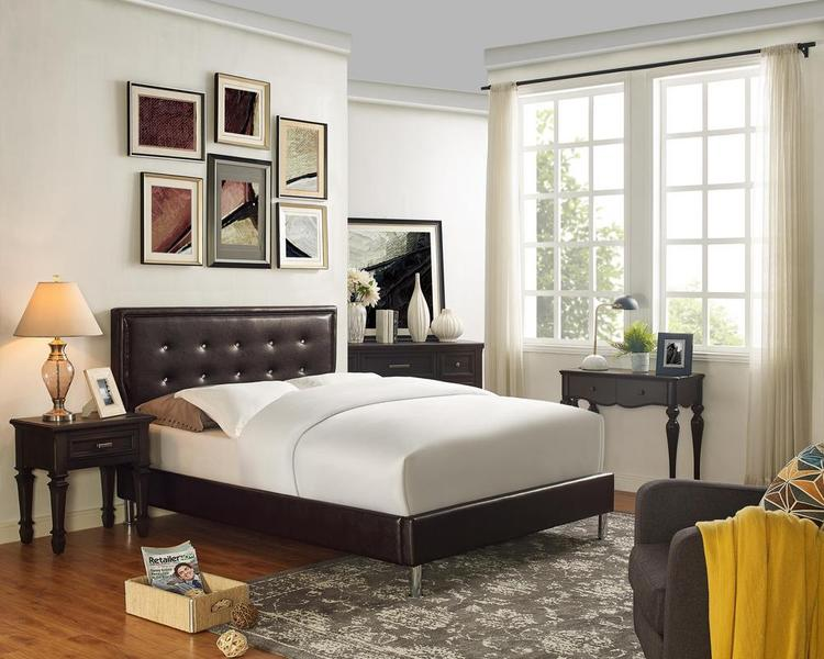 LILOLA Easton Leatherette Queen Bed
