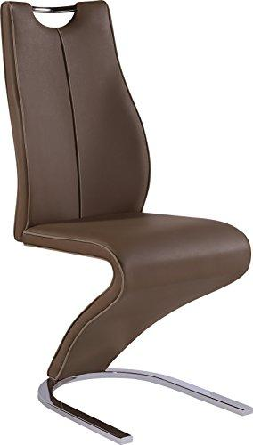Global Furniture Dining Chair Brown Pu W/ Capp Trim