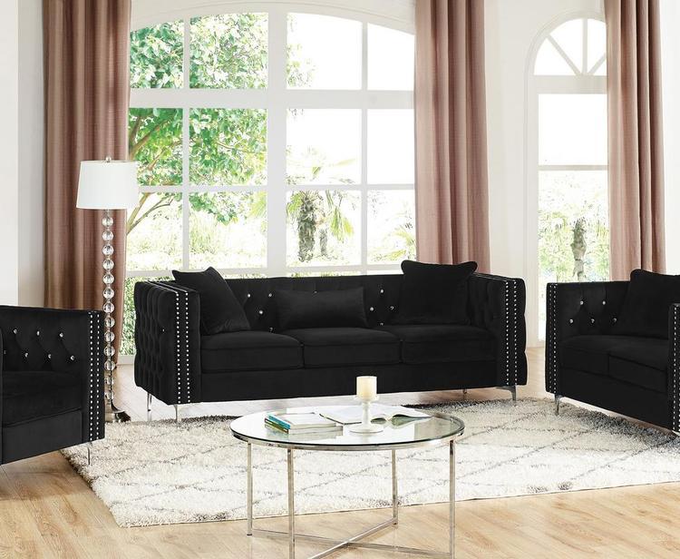 Lilola Home LILOLA Lorreto Velvet Sofa [Item # D5104-S]