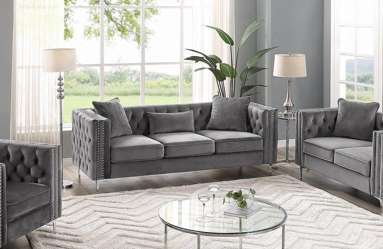 Lilola Home LILOLA Lorreto Velvet Sofa [Item # D5105-S]