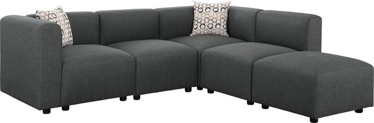 Lilola Home Nash Modular Sectional Sofa with Ottoman [Item # D6018-6]