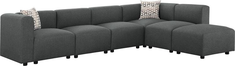 Lilola Home Archie Modular Sectional Sofa with Ottoman