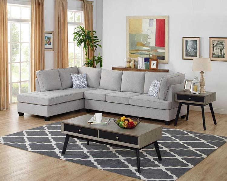 LILOLA Olson Linen Reversible Sectional Sofa [Item # D6198]