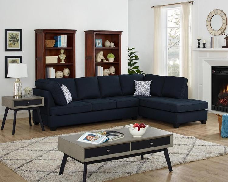 LILOLA Olson Linen Reversible Sectional Sofa [Item # D6199]