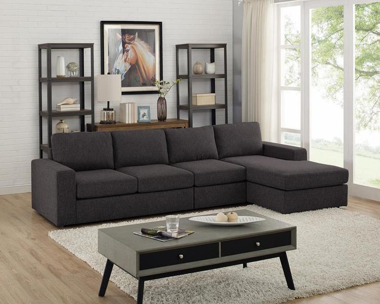 Lilola Home Dunlin Sofa with Reversible Chaise