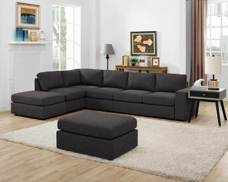 Lilola Home Cassia Modular Sectional Sofa with Ottoman
