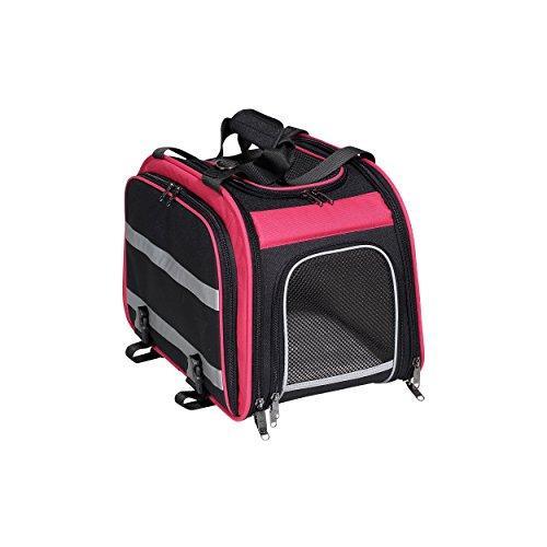 Pet (Expandable Rear Pet Carrier, Pink/Black)