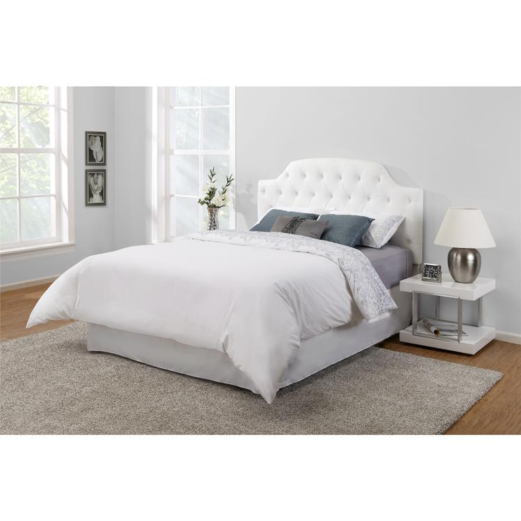 Dorel Living Lyric Button Tufted Faux Leather Headboard