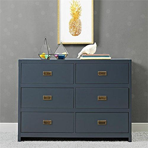 Baby-Relax Baby Relax Miles 6-Drawer Dresser, Graphite Blue