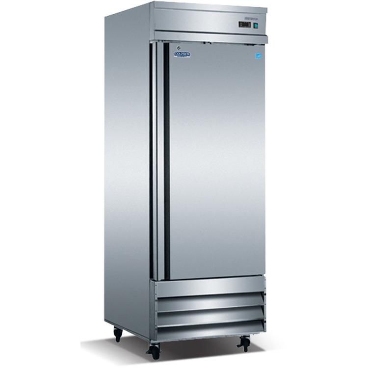 ColdTech Energy Star 23 cu.ft. Commercial Single-Door Reach-In Freezer - Stainless Steel
