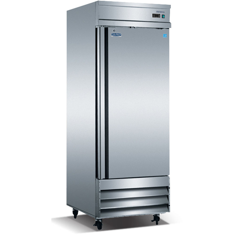 ColdTech Energy Star 23 Cu. Ft. Commercial Single-Door Reach-In Refrigerator - Stainless Steel