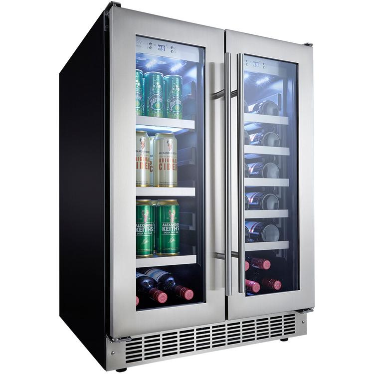 Danby DBC047D3BSSPR Silhouette Lorraine 24 In. French Door Beverage Center