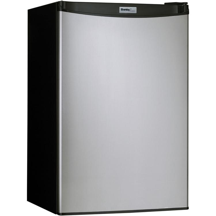 Danby Designer Energy Star 4.4 Cu. Ft. Compact Refrigerator/Freezer with Spotless Steel Door