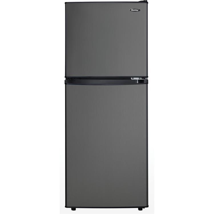 Danby 4.7-Cu. Ft. Dual-Door Compact Refrigerator/Freezer in Black Stainless Steel