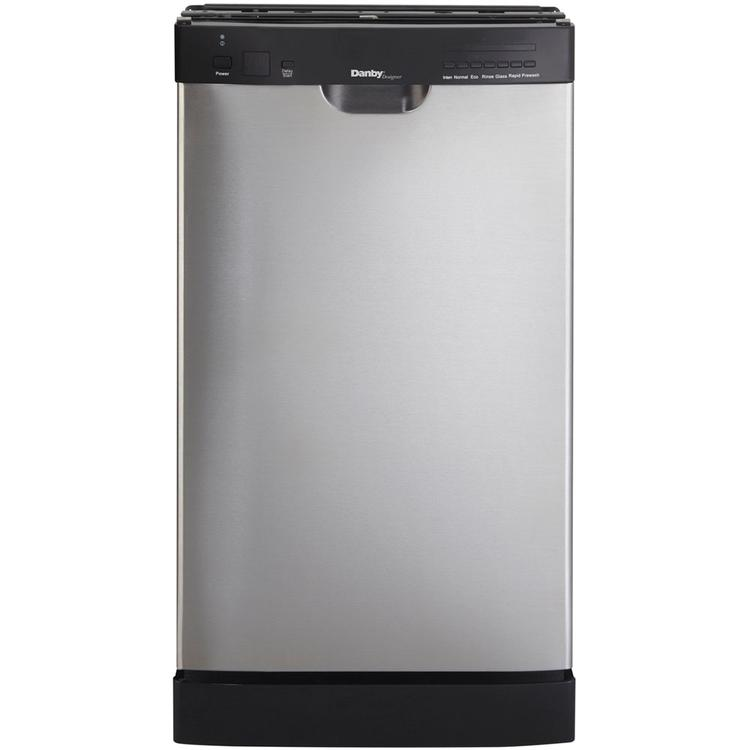Energy Star 18 In. Built-In Dishwasher with 7 Wash Cycles - Stainless Steel/Black