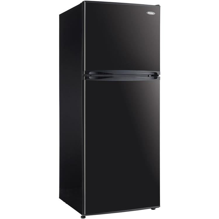 Danby 9.9-Cu. Ft. Mid-Size Frost-Free Refrigerator with Top-Mount Freezer in Black