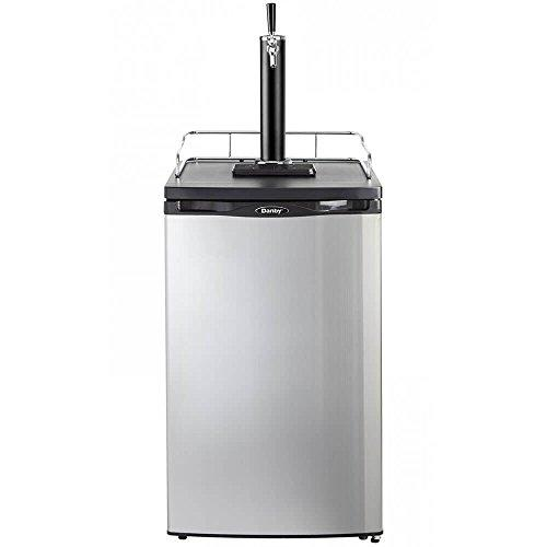 5.2 Cu. Ft. Single-Tap Keg Cooler in Black with Spotless Steel Door