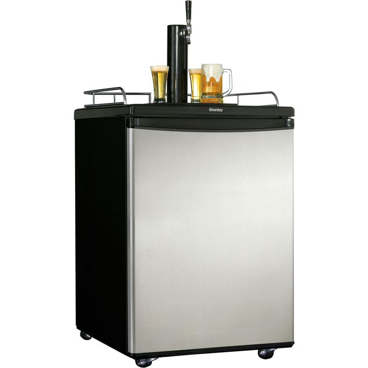 5.8 Cu. Ft. Keg Cooler - Black with Spotless Steel Door