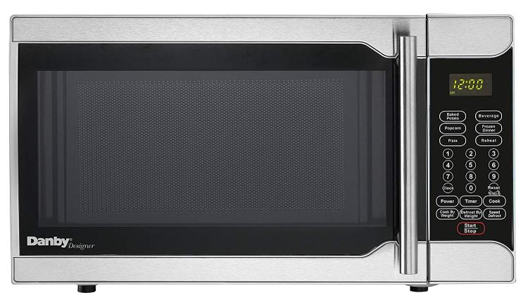 Danby Designer 0.7-Cu. Ft. 700W Countertop Microwave Oven in Stainless Steel